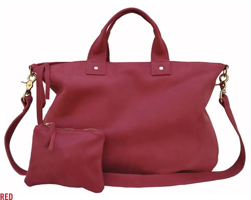I own this bag in both the red and the navy.  I love the look of both of them but alas I'm a girl who needs compartments in her purses and the unlined nature of the the bags mean my stuff ends up covers in leather fluffs that I can't really have on work presentations.
