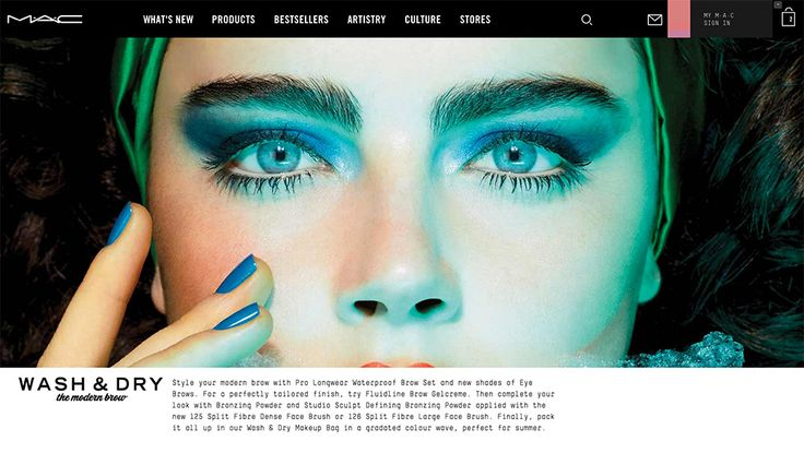The new MAC Cosmetics website will have a totally different look for the limited edition collection pages.