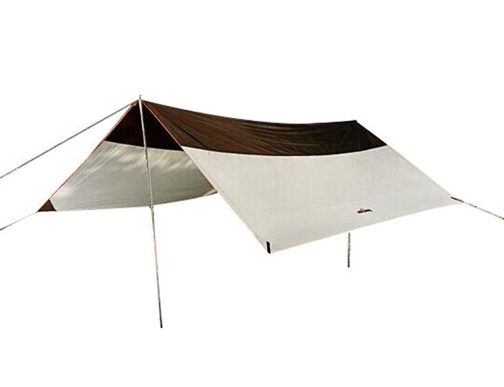 Auting Tarp/ Bâche/ Toile de tente/ Tente Bâche/ Bâche de Abri 5 à 8 personnes - 5 m x 4,4 m (4,5kg) - Imperméable Large pour Camping randonnée - Pôles inclus - Gris: Amazon.fr: Sports et Loisirs