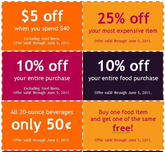 coupons template free