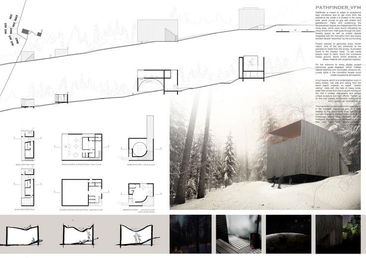 [A3N] : Aurora Borealis Arctic Observatory Competition Winner 2012 ( 2rd prize : Pathfinder ) Modlinska Julia, Pawlik Ewelina ( Münster School of Architecture, Wroclaw University of Technology)