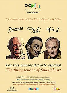 Picasso, Dalí y Miró, los tres tenores del arte español