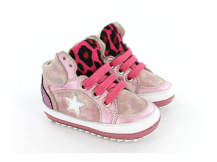 Babyproof Smart Babyschoenen - Speciaal voor de eerste stapjes - Sneaker - Roze - Pony hair - Camouflage - Meisjes - 18-22