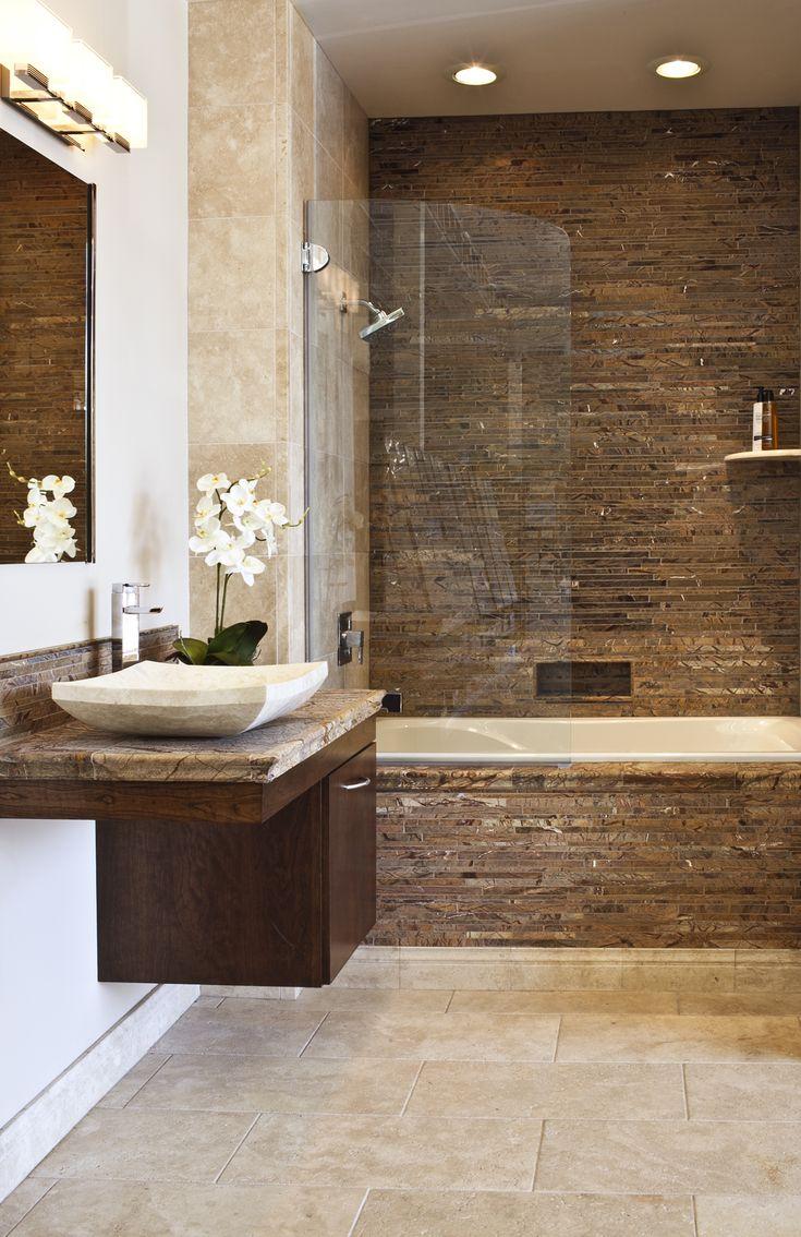21 fantastic bathroom design brown tiles. Black Bedroom Furniture Sets. Home Design Ideas