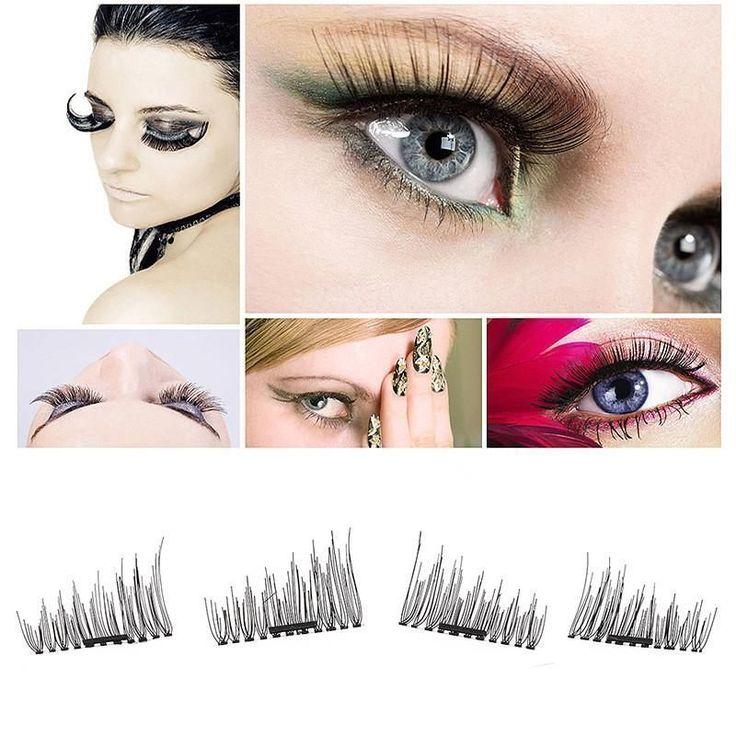 4 Pcs/2Pairs 3D Magnetic False Fake Eyelashes ORIGINAL LASH Eye Makeup Accessories Magnet Eye Lashes Extension Dropship