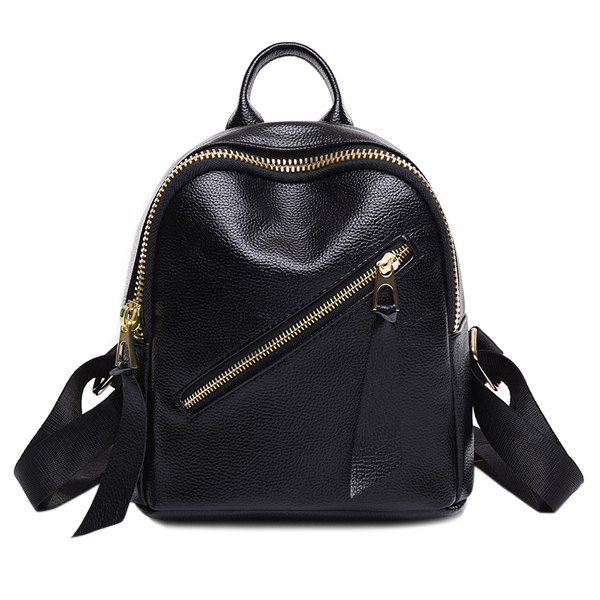 Leisure Women's Satchel With Zips and Solid Color Design #hats, #watches, #belts, #fashion, #style