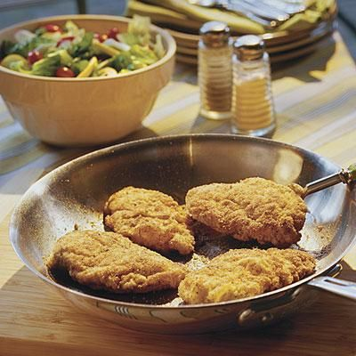 Crunchy Pan-Fried Chicken | Those that love their fried chicken crispy will love this Crunchy Pan-Fried Chicken recipe. | SouthernLiving.com