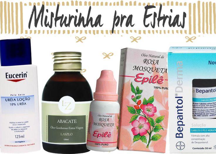 Misturinha altamente hidratante para evitar e tratar estrias! Leva hidratante, óleo de abacate, óleo de rosa mosqueta e Bepantol. Maravilhoso!