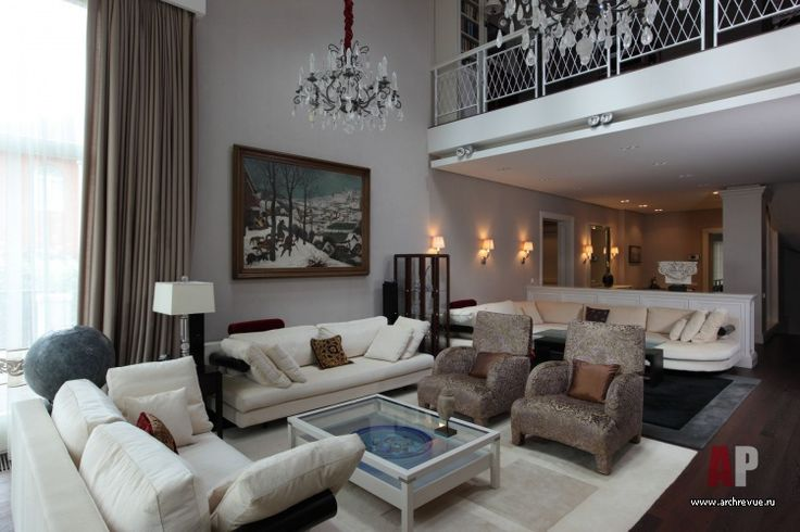 Фото интерьера гостиной дома в стиле фьюжн