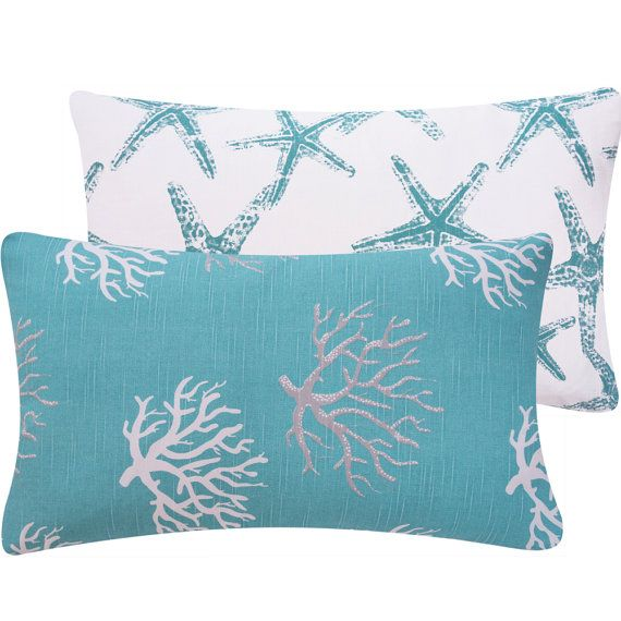 Coral And Star Fish 12x20 Quot Lumbar Decorative Pillow Cover