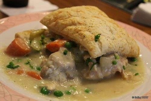 Bring some magic to your kitchen and try this Grandmas Chicken Pot Pie Recipe from Fifties Prime Time Cafe at Hollywood Studios in Disney World
