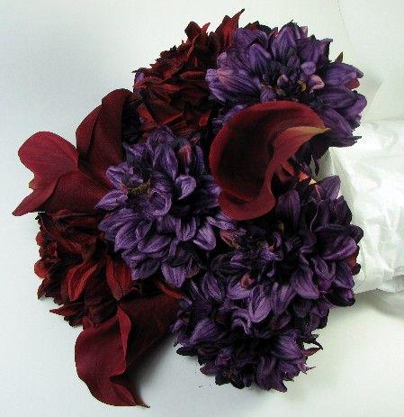 Wedding Bouquet Purple Corners