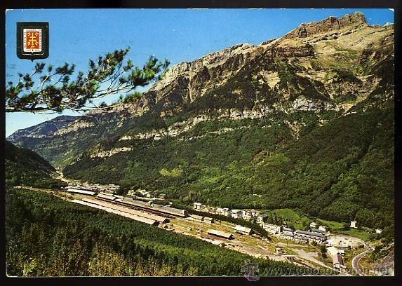 Nº 1678 Vista del Pico del Águila. Estación de Canfranc. Pirineo Aragonés. Comercial Escudo de Oro. - Foto 1