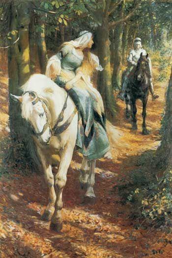 Enid and Geraint by Rowland Wheelwright