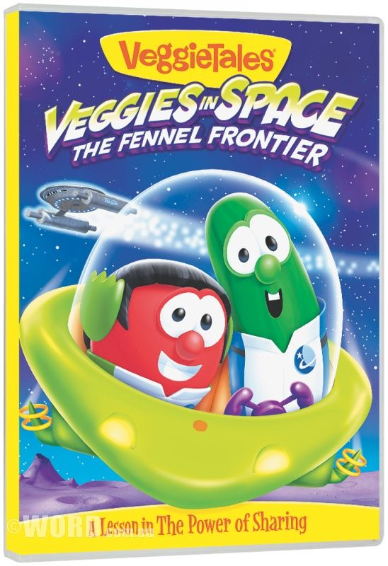 DVD VeggieTales #55: Veggies In Space Fennel Frontier: The entire USS Applepies crew takes on Luntar the Looter, a power stealing space pirate, but they're in for a big surprise when they find out what's motivating him!