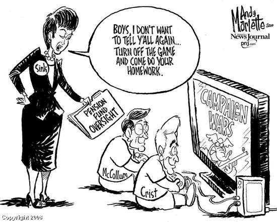 What stereotypes are depicted in this cartoon? What sense