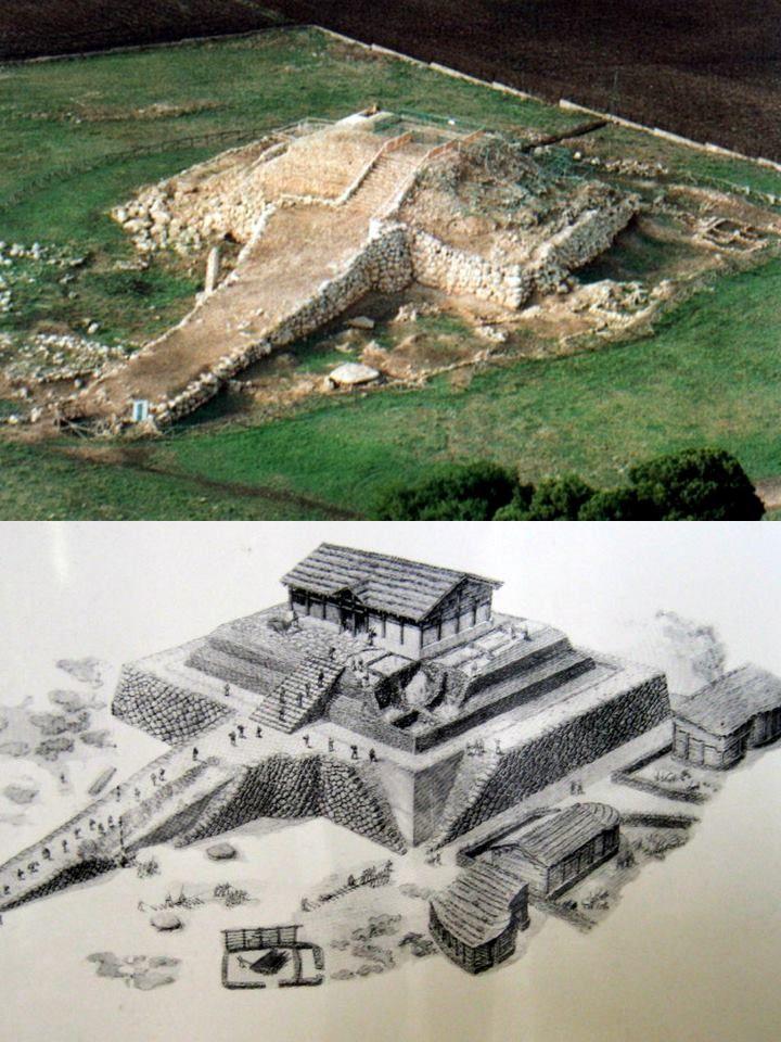 Ziggurat of Monte d'Accoddi, Sardinia. Complesso prenuragico il cui primo insediamento risale al 4000 A.C.. Il tempio intorno al 1800 A.C. era già in rovina.