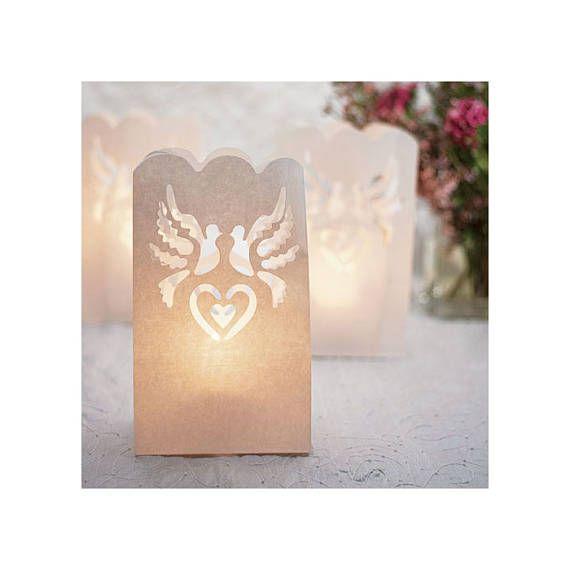Set of 12 Paper Lantern Wedding Luminaries Decorations