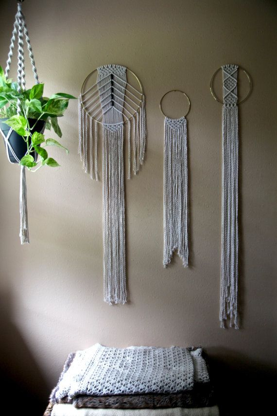 15% off sale Macrame Wall Hanging Natural White by BermudaDream