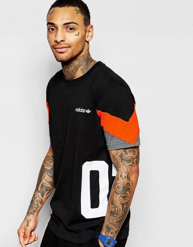 Image 1 of adidas Originals T-Shirt in Colour Block AO0542