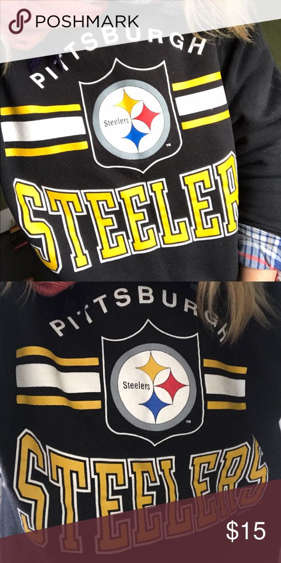 """Vintage Steelers Noodie Vintage Steelers Noodie. Size M/L. Excellent Condition, clean, no tears, stains. My boyfriend keeps threatening to burn it because """"We're an Eagles Family"""". Willing to trade for similar Dallas Cowboys / Giants hoodie / Noodie because I like to instigate. Tops Sweatshirts & Hoodies"""