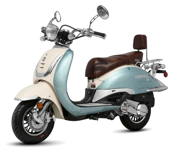 Best 150cc Two Tone Scooter on the Market! - 2012  I'm normally not a moped person. But this one has such charm!: Mopeds Scooters Jorgenca, Scooters Mopeds, Bike, Chine Scooters, Strokes Mopeds, Motors Scooters, Cars Art, 150Cc Heritage, I'M