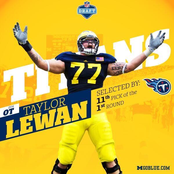 2014 NFL Draft - Taylor Lewan (OT) - Round 1: Pick 11