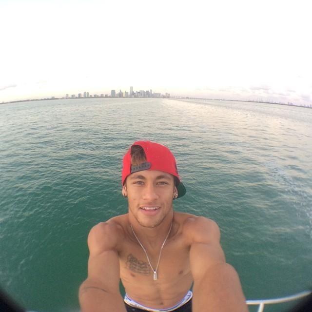 Neymar selfies - Brazilian soccer forward in World Cup 2014