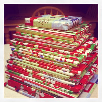 24 books under the tree for the kids to pick one each night.  We've done this, but unwrapped...may try it wrapped this year.