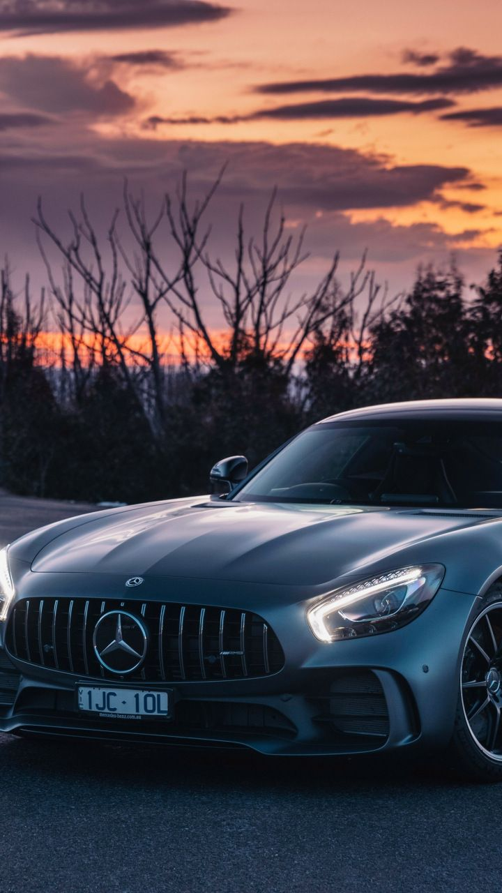Sunset Mercedes Amg Gt Luxury Car 720x1280 Wallpaper With