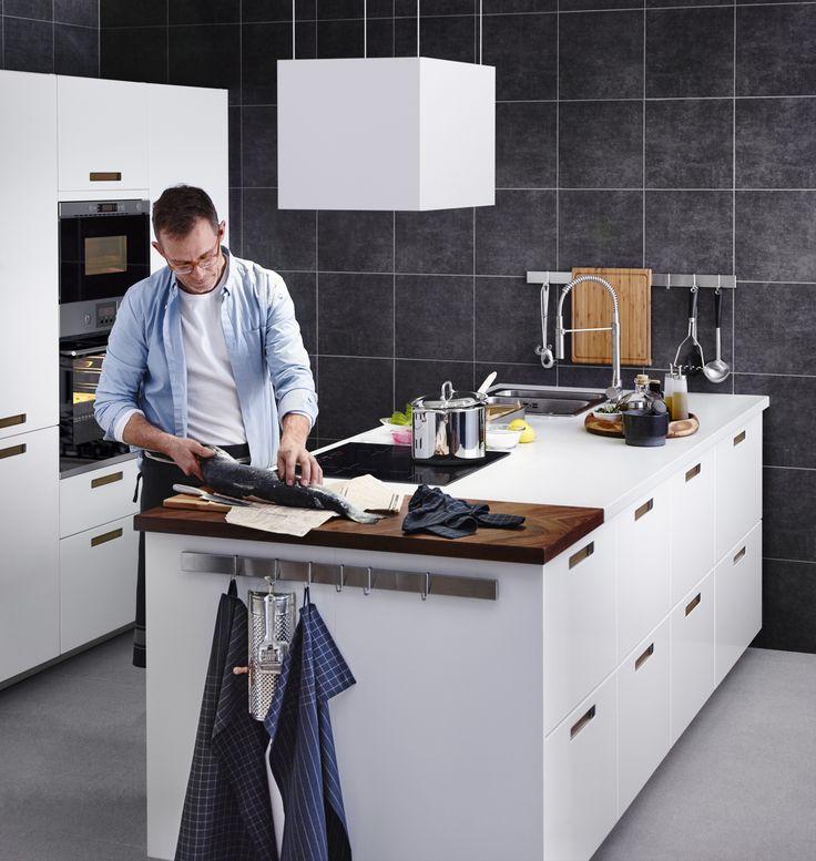 METOD / MÄRSTA keuken | #IKEAcatalogus #nieuw #2017 #IKEA #IKEAnl #keuken #koken #eten #diner #wit