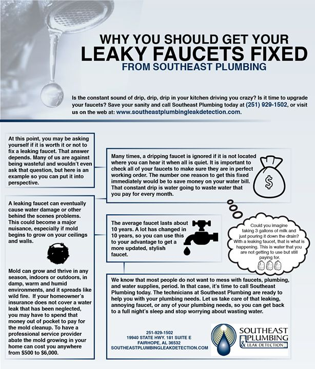 If you have a leaking faucet now is the time to get it fixed. #LeakDetection #FairhopeAL #GoodToKnow