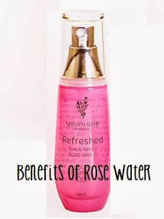 Proven rose water benefits: hair softener, dark eye circle cure, toner, cleanser -- the list goes on  on. Who knew?!