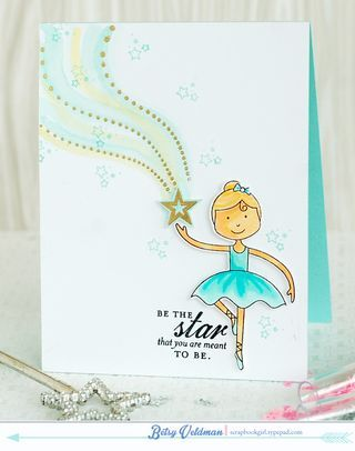 Be The Star Card by Betsy Veldman for Papertrey Ink (May 2014)