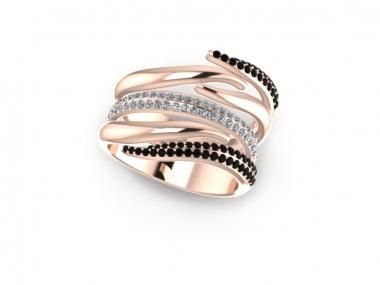 Black & White #diamonds band #ring | #Larimonta