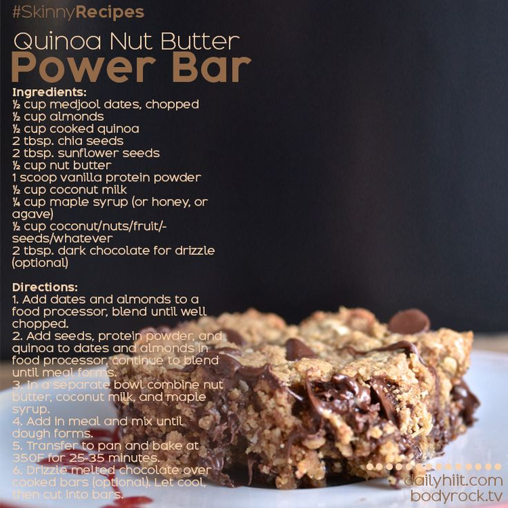 Quinoa power bar