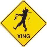 Fishing Xing Tin Sign Placa de lata