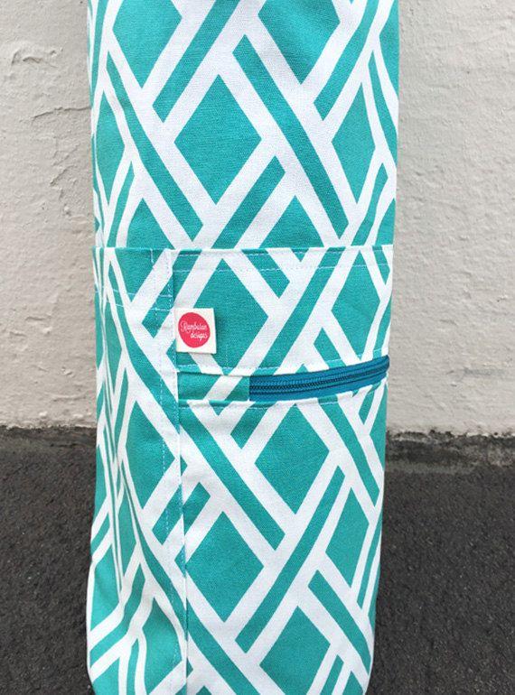 Yoga Mat Bag  Diamond Sky  Organic Cotton by Rambutandesigns