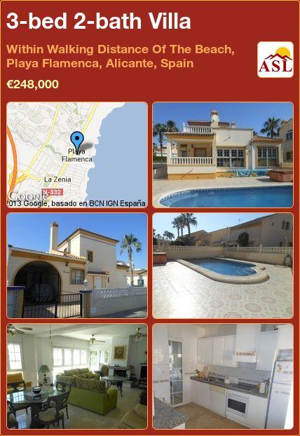 3-bed 2-bath Villa in Within Walking Distance Of The Beach, Playa Flamenca, Alicante, Spain ►€248,000 #PropertyForSaleInSpain