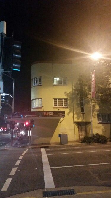 Art deco Brisbane. Cafe at South Brisbane/West End. The photo is of ordinary quality as taken on my phone at night after several drinks