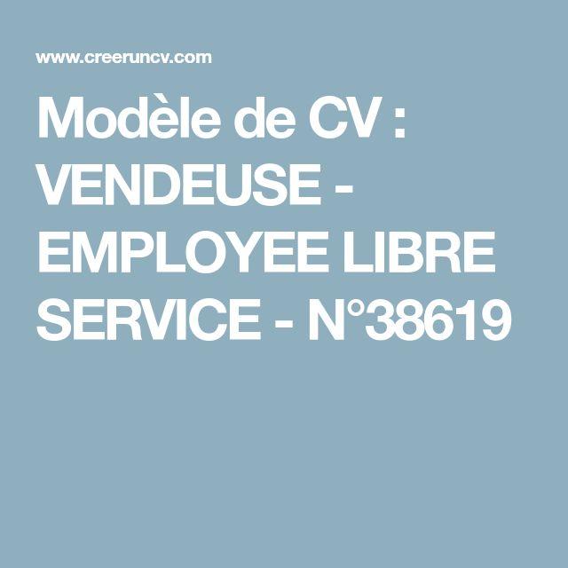 modele de cv employee libre service