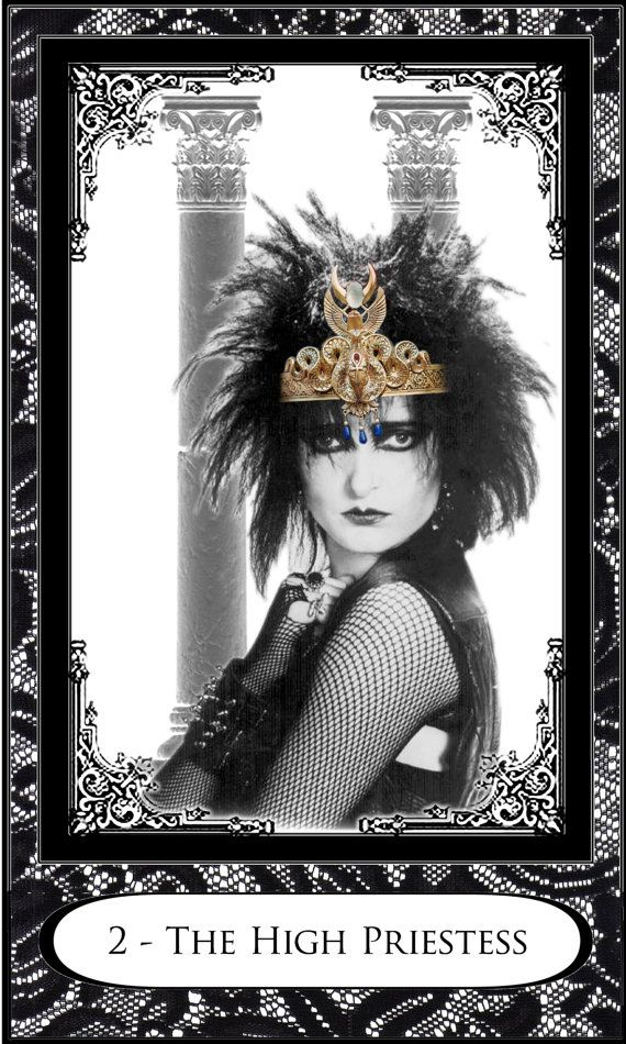 Um, Siouxsie as the High Priestess??  Need this. Limited Edition New Wave Tarot Find out what the High Priestess means for you: www.tarotbyemail.com