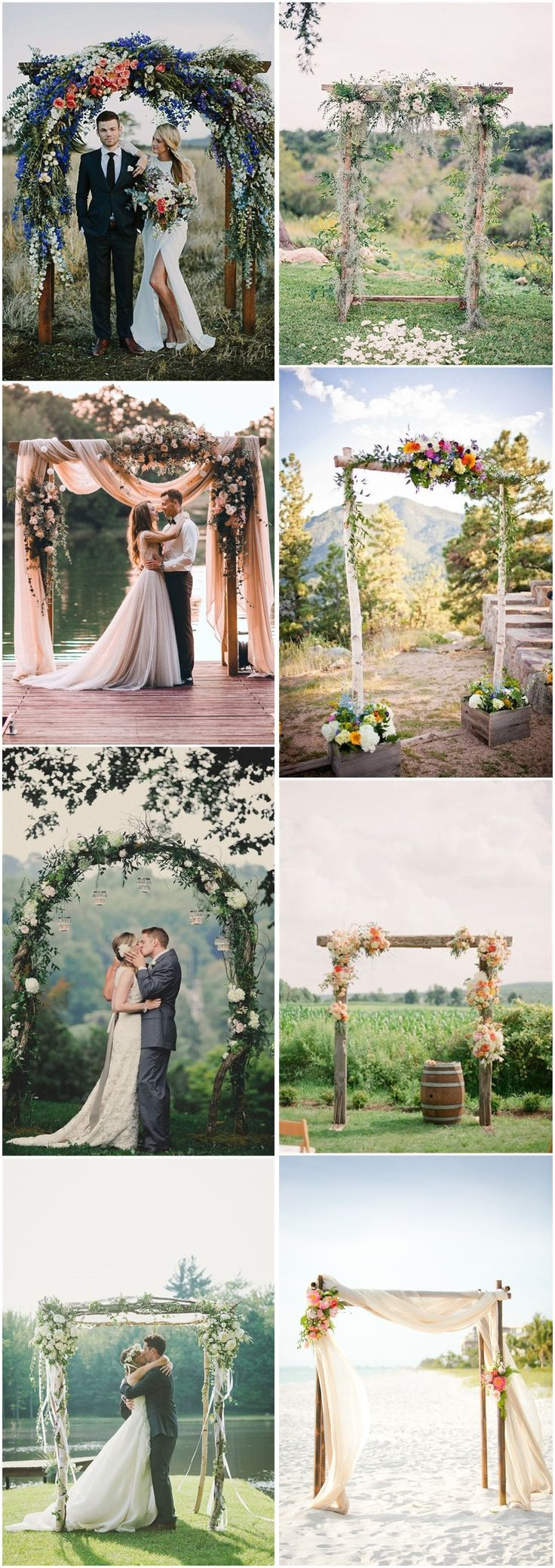 17 best ideas about rustic wedding arches on pinterest for Arch decoration pictures