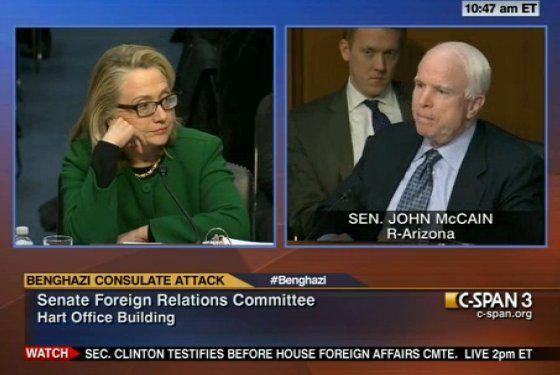 I love Hillary's unimpressed face listening to John McCain.