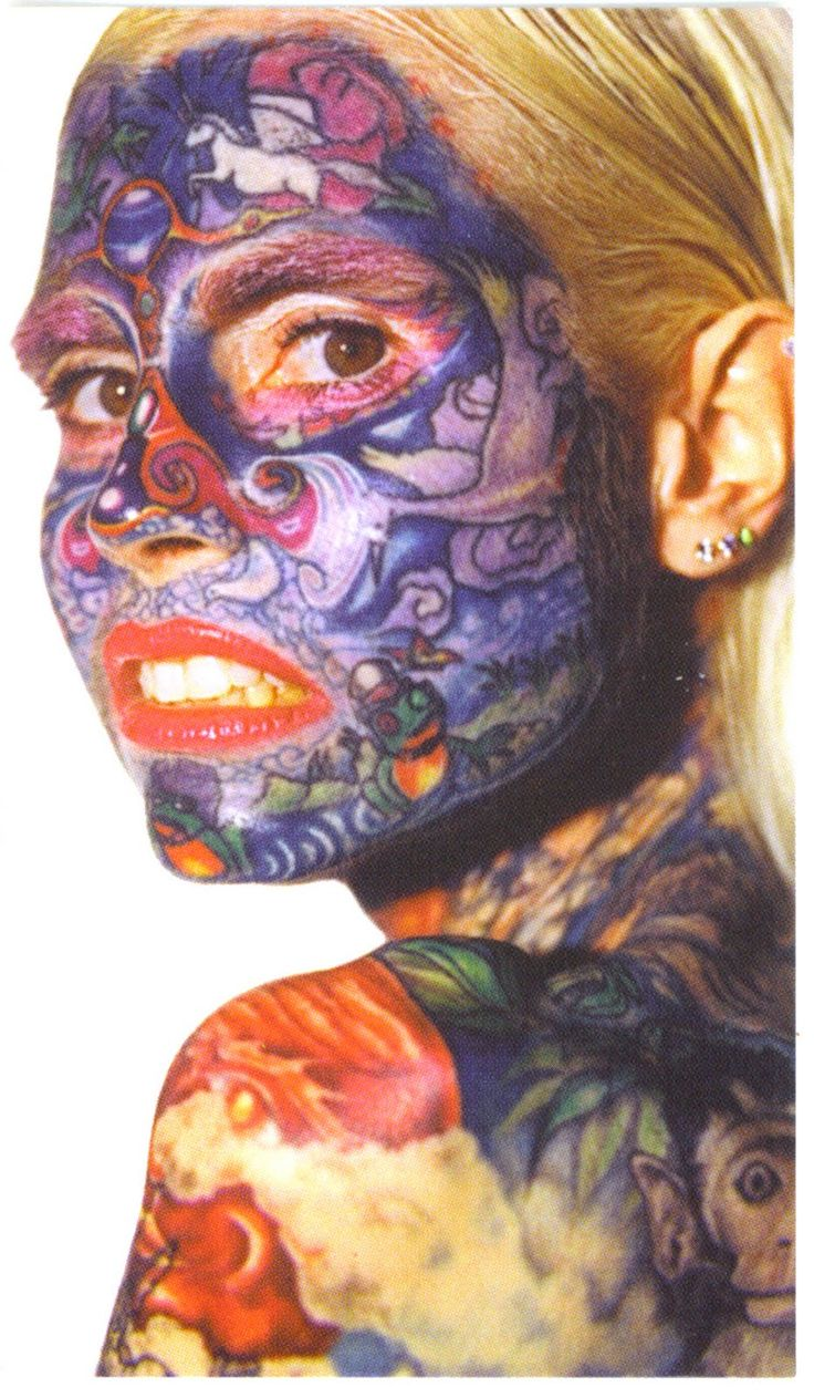 Face tattoos designs and ideas page 7 - Top 10 Face Tattoo Designs 2011 Best Face Tattoo Design For College