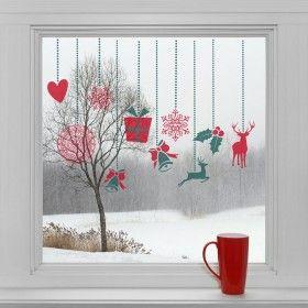 Vánoční dekorace na okno - Vánoční ozdoby