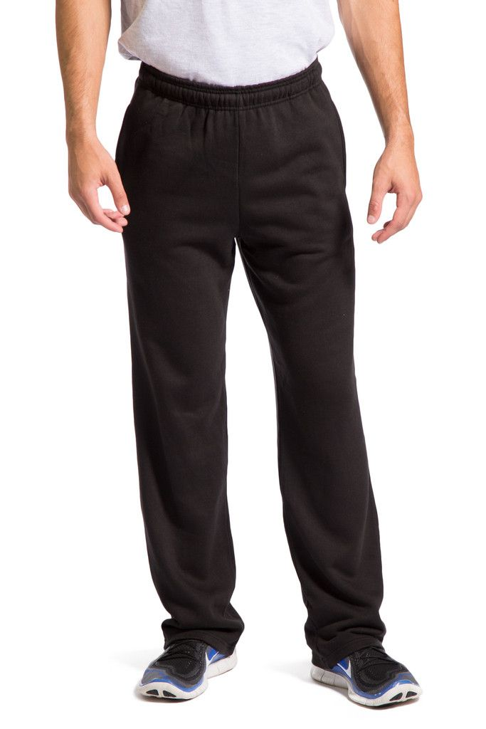 Men's Athletic Pants, Open Bottom Ecofabric Sweatpants with Side Pocke – Fishers Finery