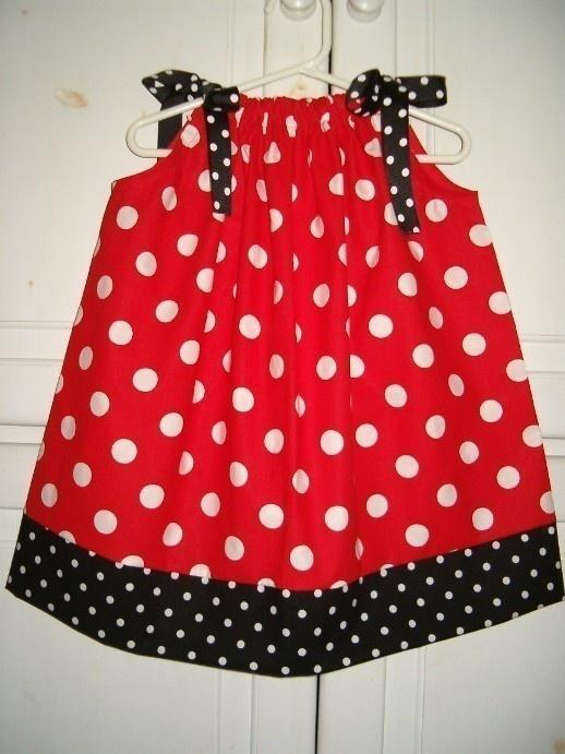 Girls Dress Minnie Dress Pillowcase Dress Red with Black Dots Ladybug Dress baby dress toddler dress Minnie Party Clothes Minnie Inspired & 91 best Minnie Mouse images on Pinterest   Minnie mouse Disney ... pillowsntoast.com