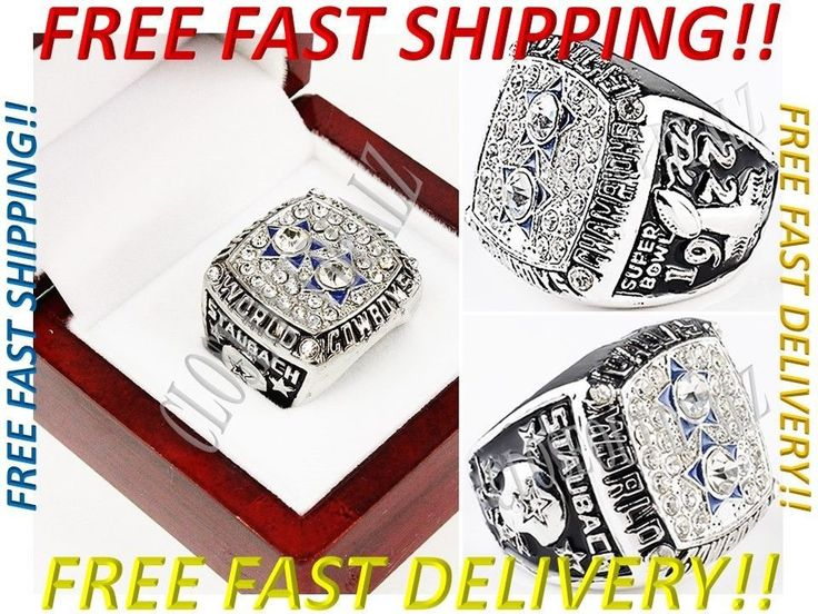 1977 Dallas Cowboys Roger Staubach Super Bowl Championship Ring     This exciting new ring encompasses the greatness of the Dallas Cowboys organization and tribute to Roger Staubach.  The pictures do not do this ring justice, so shiny and sparkly in real life.