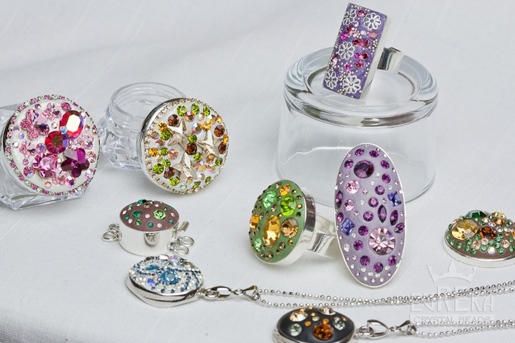 De Co Re Epoxy Clay and Swarovski Chatons , Jewelry   Eureka Crystal Beads